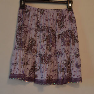 Purple skirt with sequins